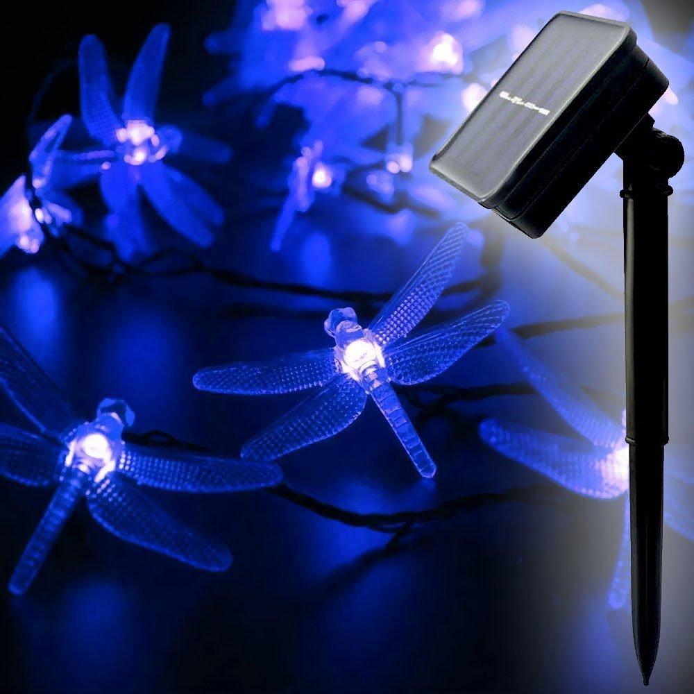 Solar Fairy String Lights LED DRAGONFLY (Blue) - 20 LEDs - WYZ works