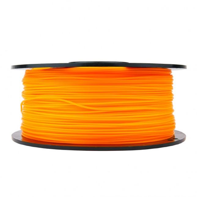 pla translucent orange 3d printer filament