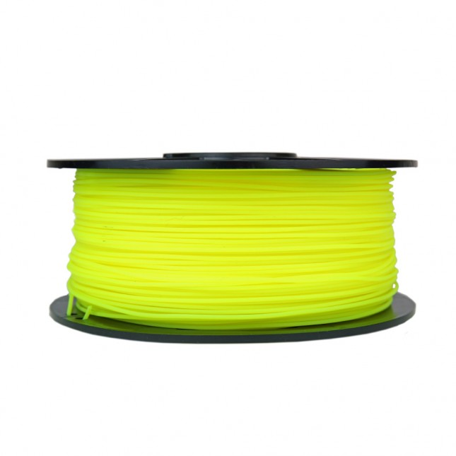 pla translucent yellow 3d printer filament