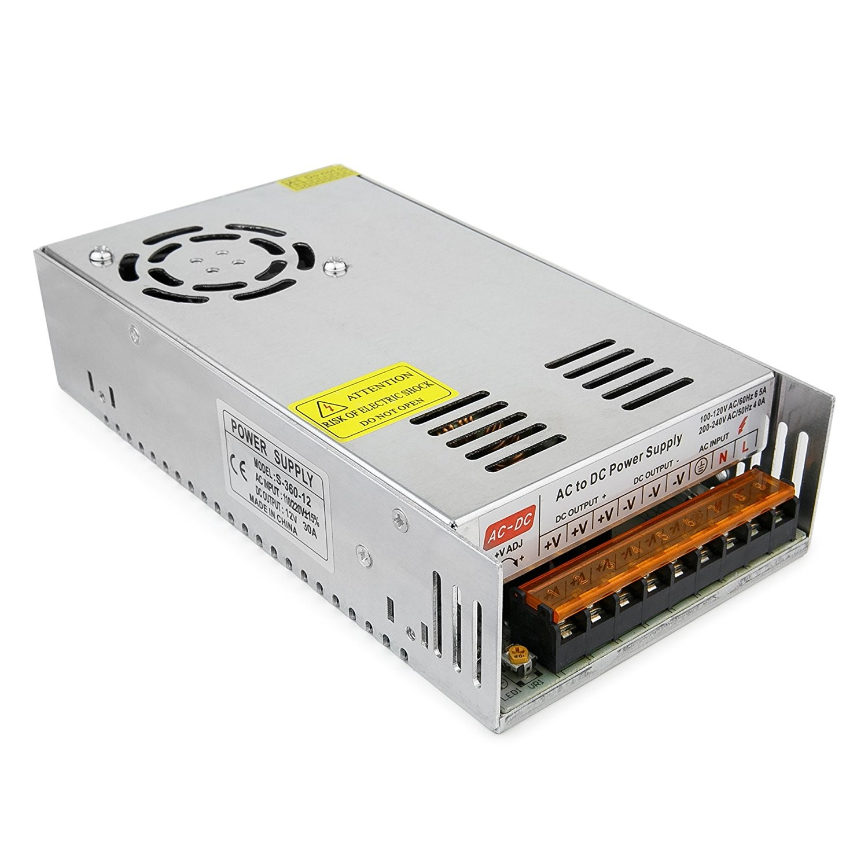 Regulated Power Supply 12v 30a 360w 3d Printer Reprap Mendel Prusa 12 Volt
