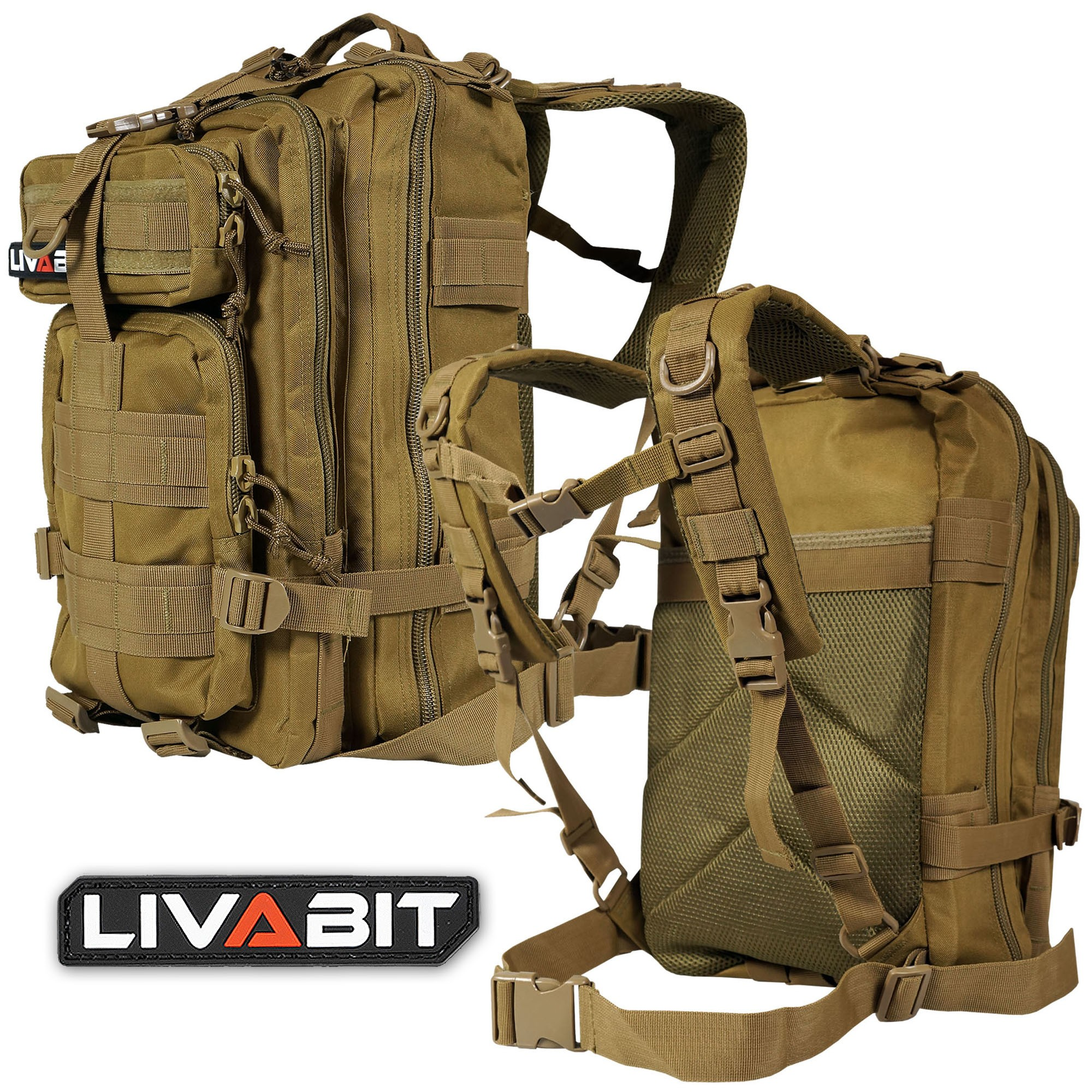 Bug Out Bag Backpack Rucksack Carrier Gallery Product Description Reviews Tags Liv A12 1 Tan