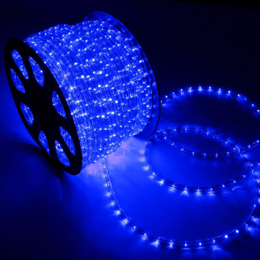led rope light blue 150 feet back