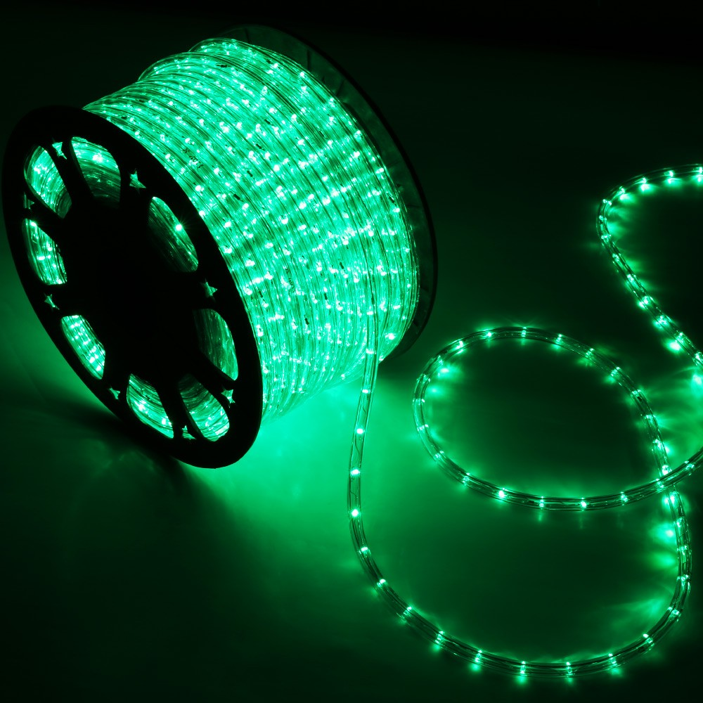 15039 green led rope light home outdoor christmas