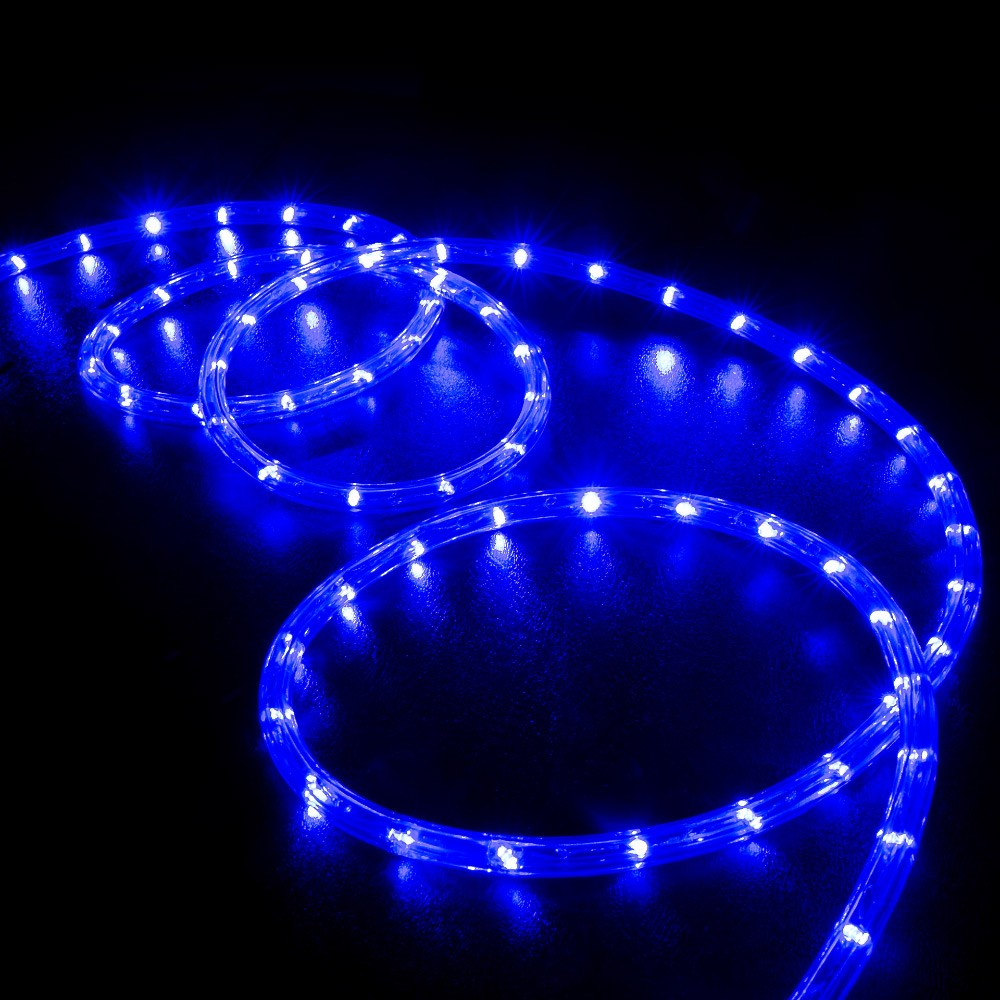 led rope light blue 50 feet