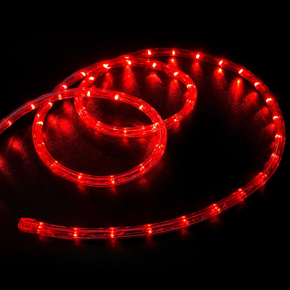 25 Red Led Rope Light Home Outdoor Christmas Lighting