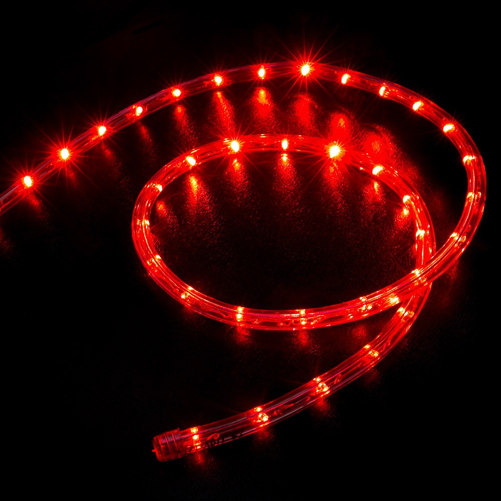 150 39 Red Led Rope Light Home Outdoor Christmas Lighting Wyz Works