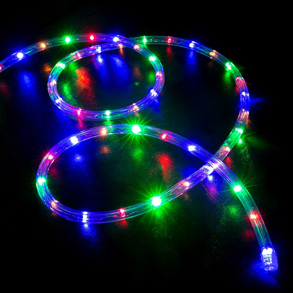 Rgb Led Christmas Lights.100 Multi Color Rgb Led Rope Light Home Outdoor Christmas Lighting