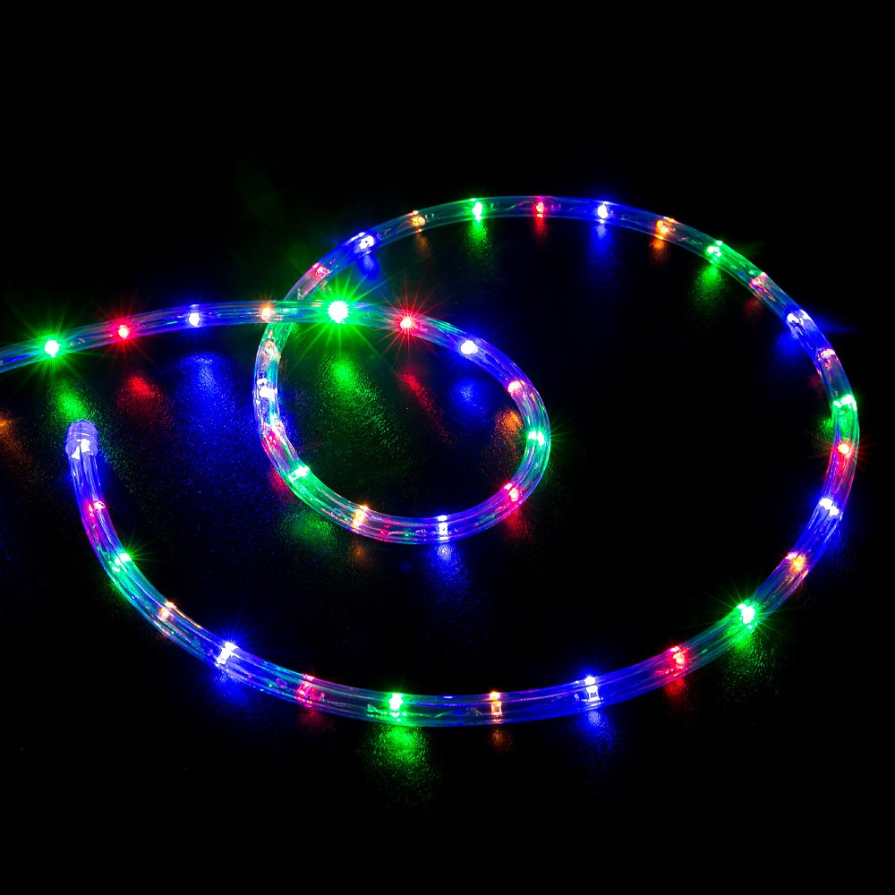 100 Multi Color Rgb Led Rope Light Home Outdoor Christmas Lighting