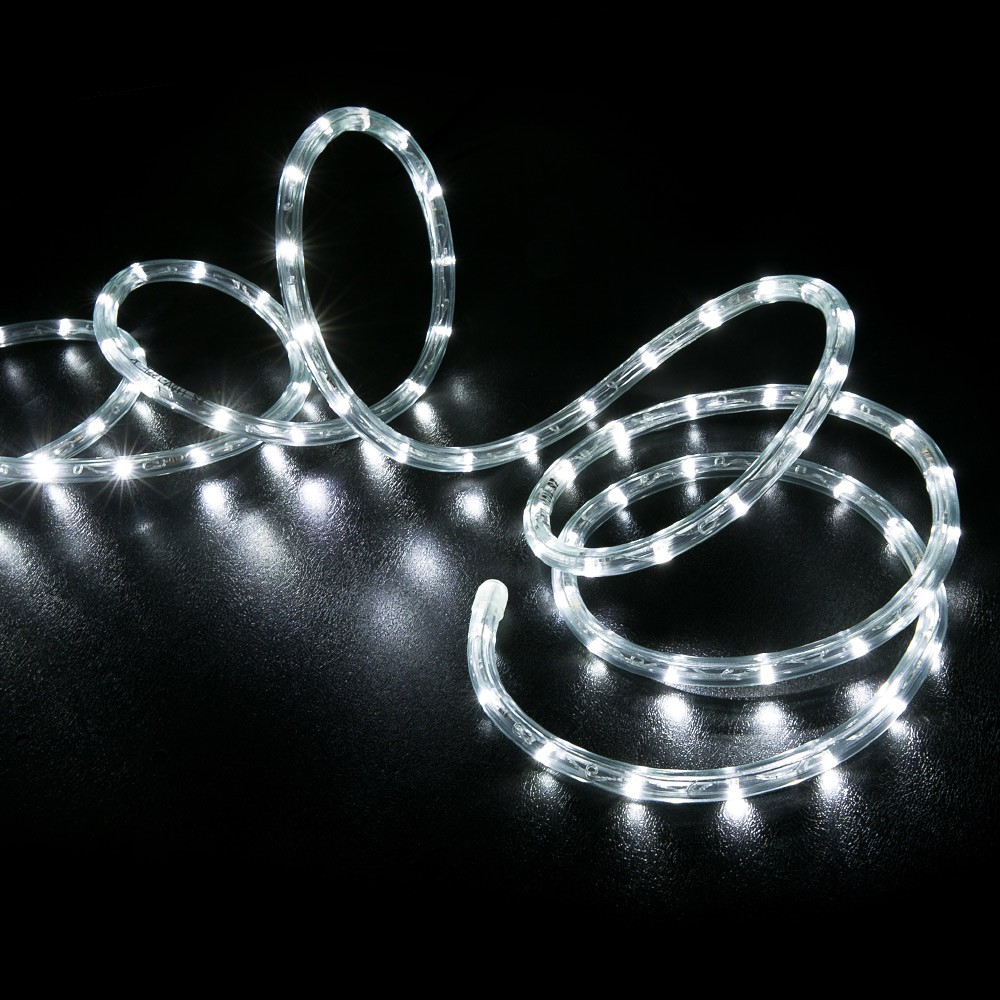 25 cool white led rope light home outdoor christmas lighting led rope light cool white 25 feet back aloadofball Gallery
