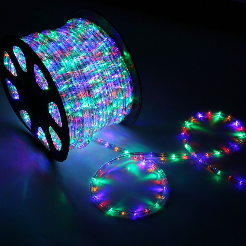 150 rgb multi color led rope light home outdoor christmas led rope light rgb multi color 150 feet back mozeypictures Images