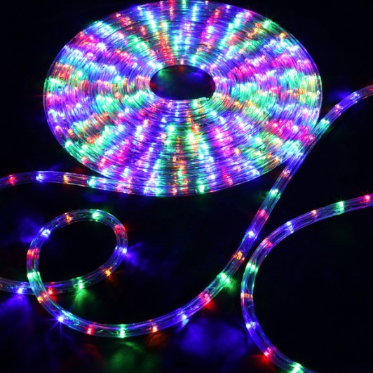 150 Rgb Multi Color Led Rope Light Home Outdoor Christmas Lighting