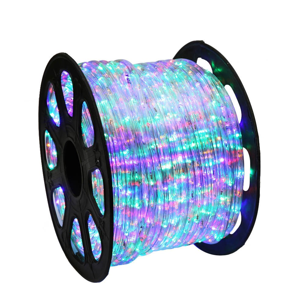 150 rgb multi color led rope light home outdoor christmas led rope light rgb multi color 150 feet aloadofball Images