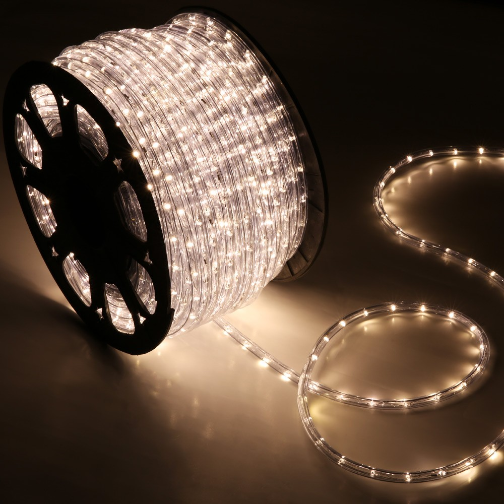 150  Warm White 2 Wire 110v LED Rope Light Home Outdoor Christmas Lighting. 150  Warm White LED Rope Light   Home Outdoor Christmas Lighting