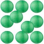 """10"""" Paper Lantern Dark Green #1"""