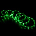 led rope light green 100 feet