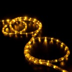 led rope light saffron yellow 25 feet