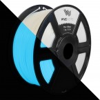 3D Printer Premium Filament White Glow Blue PLA 1.75mm