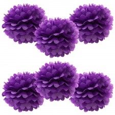 6pk purple pom poms