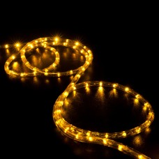 50' Orange / Saffron Yellow LED Rope Light - Home Outdoor Christmas Lighting