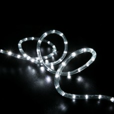 100' Cool White LED Rope Light - Home Outdoor Christmas Lighting