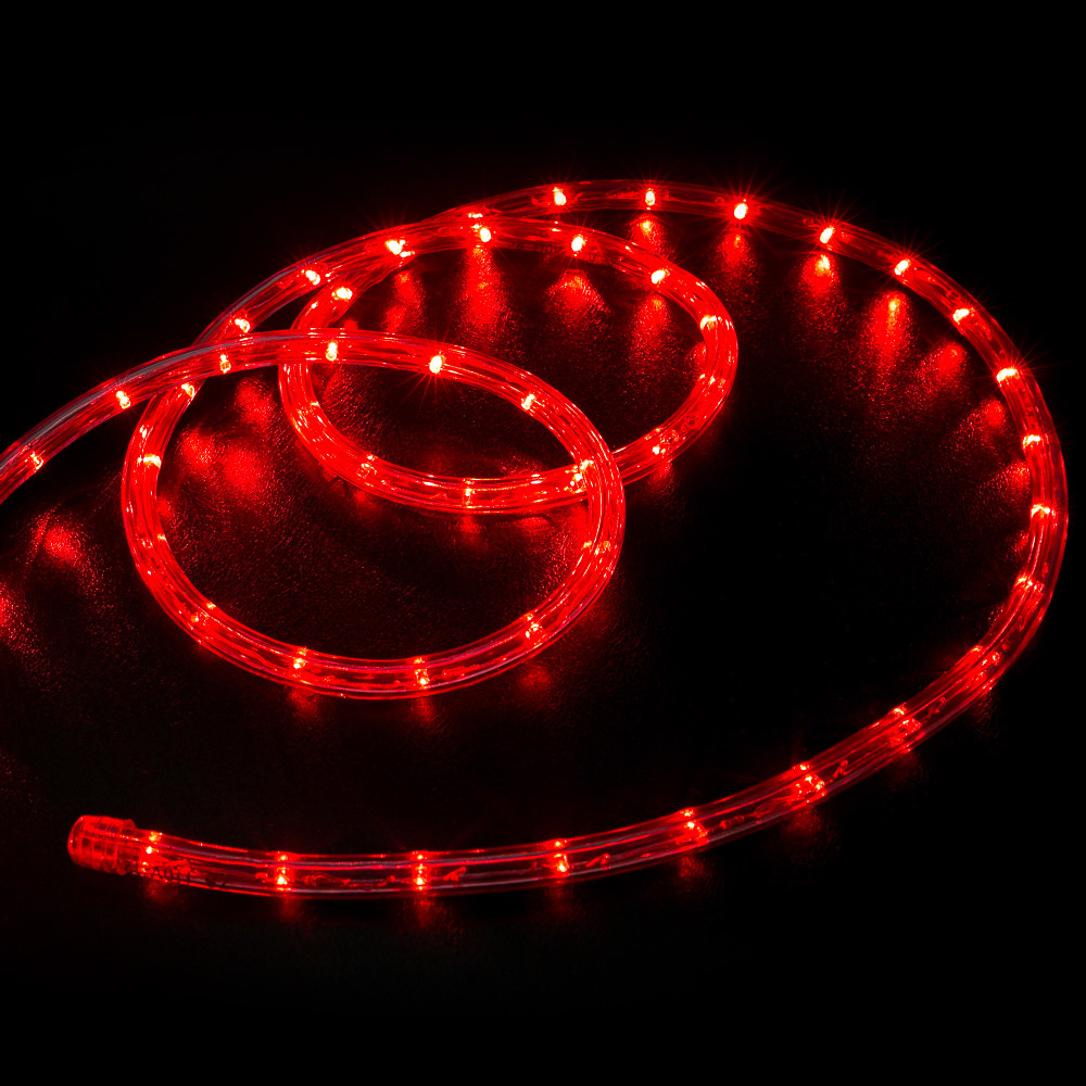 100 red led rope light home outdoor christmas lighting wyz works aloadofball Gallery