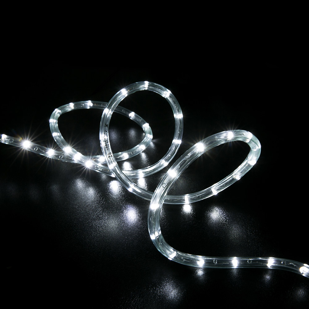 Led Rope Light Tinsel Bauble: 150' Cool White LED Rope Light