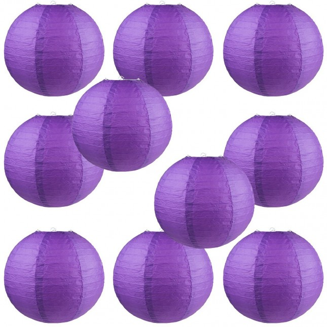 "12"" Paper Lantern Purple #1"