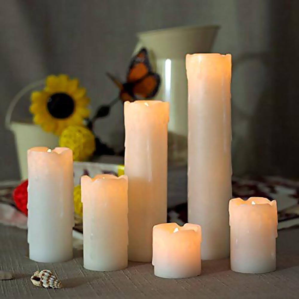 Led Candle Flicking Timer 6set