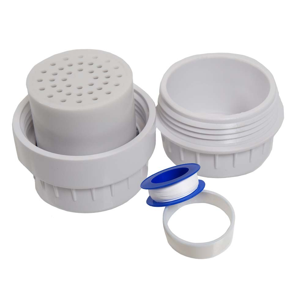 """OXYFUL 10-Stage Universal Shower Filter White 1//2/"""" Male//Female 1 Cartridge"""