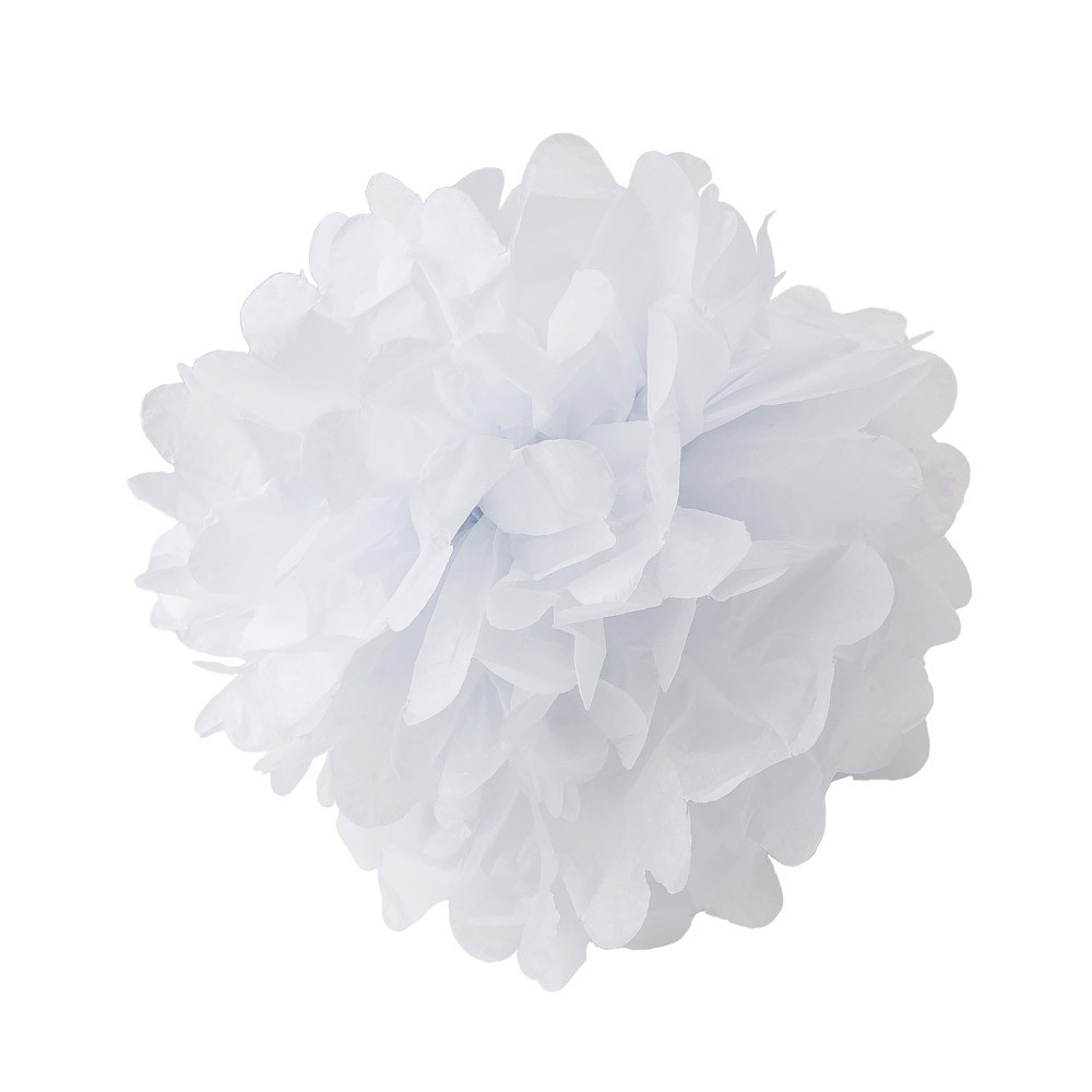 Assorted Pink And Cream Paper Tissue Pom Poms Set Of 8