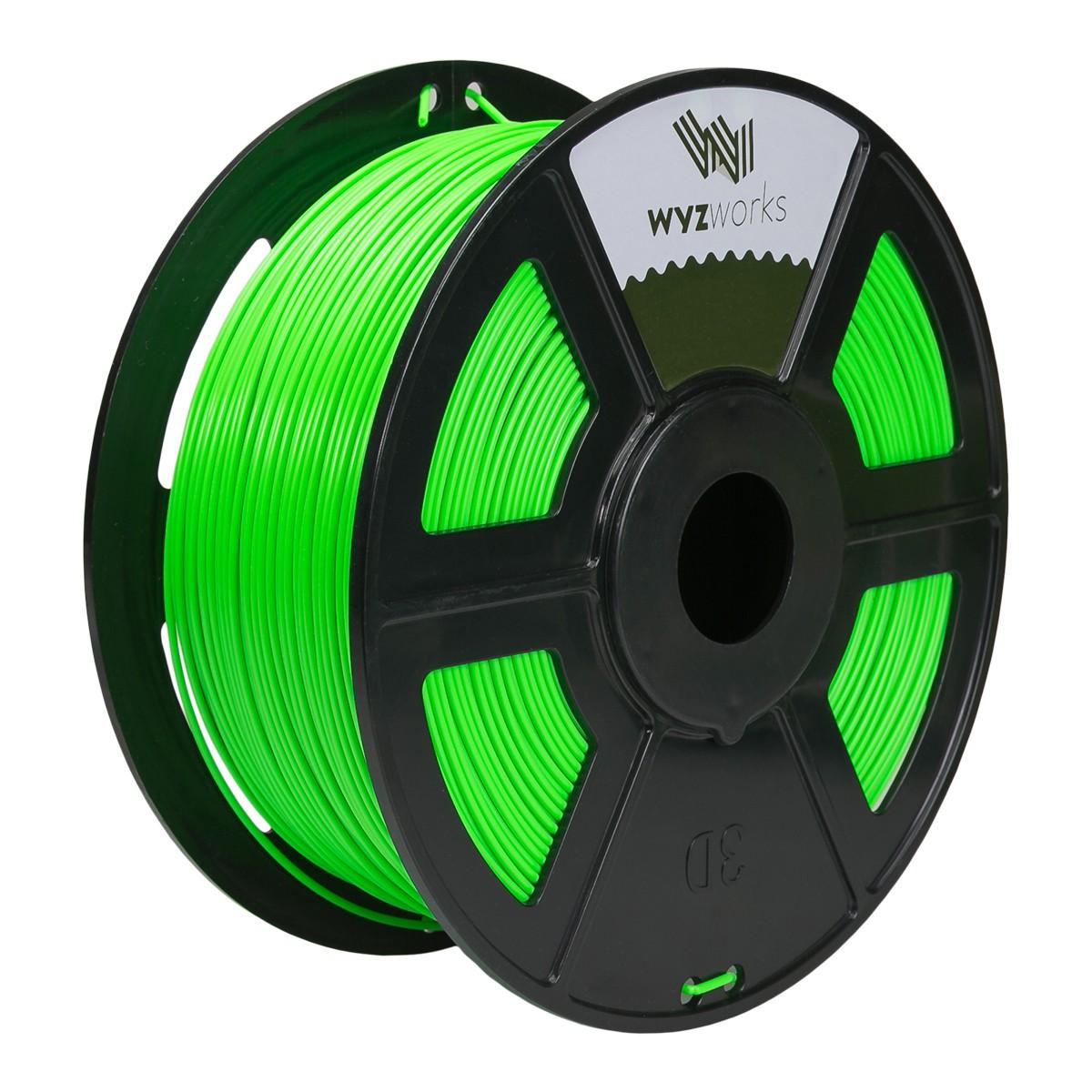 FLUORESCENT GREEN 3D Printer Filament 1kg / 2.2lbs
