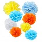 assorted spring paper tissue pom pom