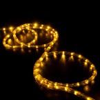 led rope light saffron yellow 25 feet