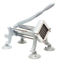 "Commercial Heavy Duty French Fry Cutter with 3/8 inch Cutting Frame and Free 1/2"" Cutting Frame"