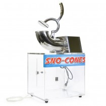 200W Heavy Duty Electric Snow Cone/Ice Shaver Machine 440lbs/h Stainless Steel and Acrylic Box