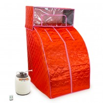 Red Portable Sauna and Steam Room