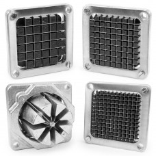 Assorted Replacement Blade Assembly and Pusher Block for Commercial French Fry Cutter 4 Pack