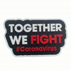 Together We Fight #Coronavirus PVC Morale Patch 3D Badge #9007