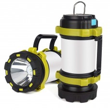 Lime LED Lantern Light and Power Bank