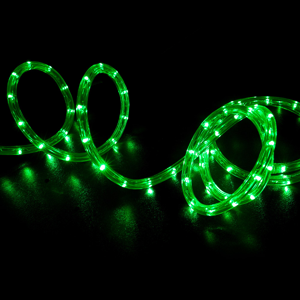 100 Green Led Rope Light Home Outdoor Christmas